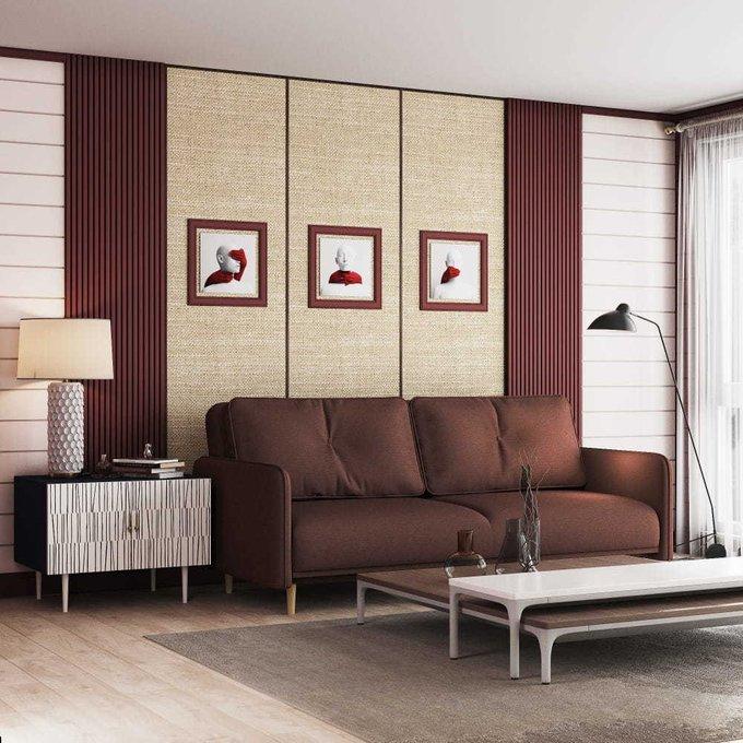 Диван-кровать Блумбер темно-коричневого цвета