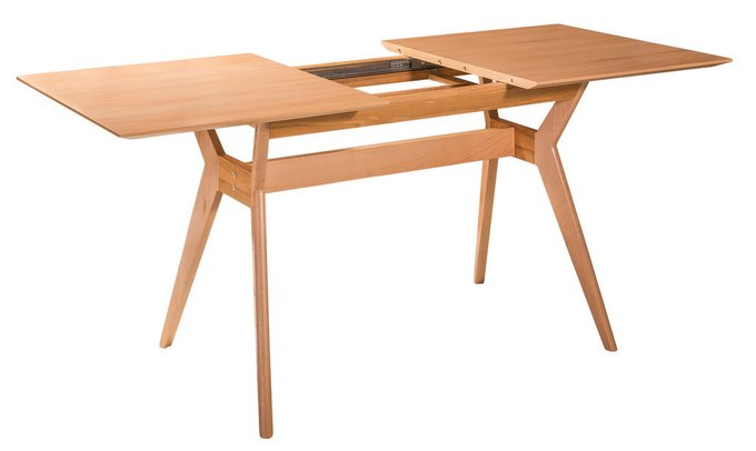 Обеденный стол раскладной Нарвик натуральный бук