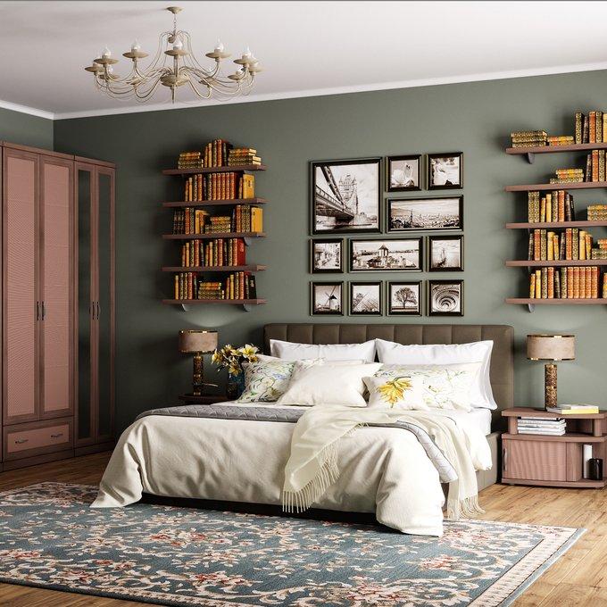 Кровать Инуа 120х200 темно-коричневого цвета с подъемным механизмом