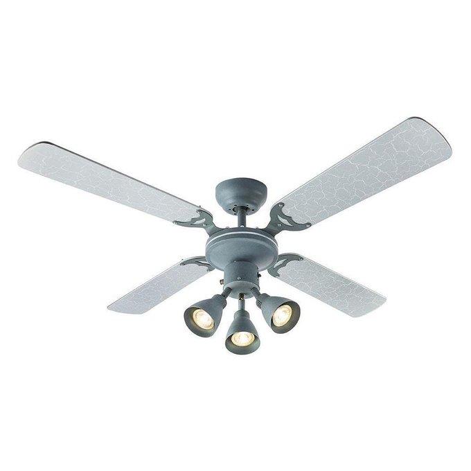Вентилятор-люстра Harvey из металла и дерева