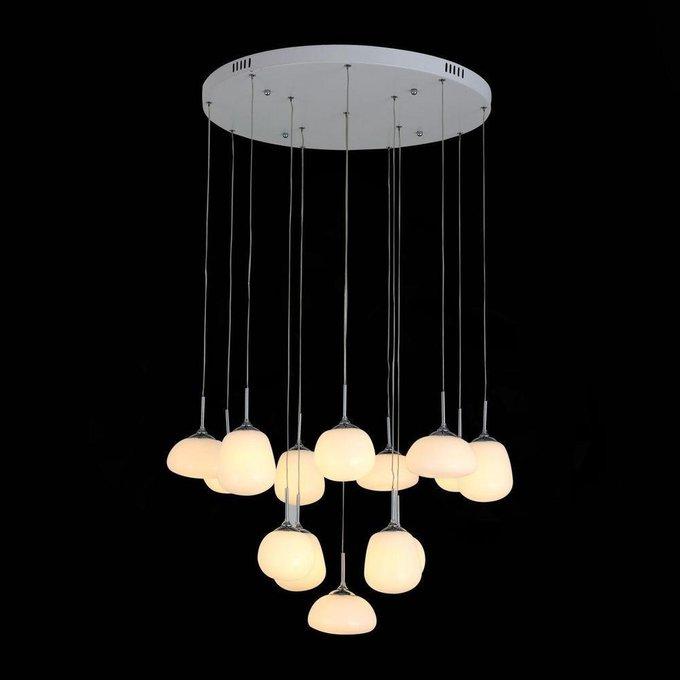 Подвесная светодиодная люстра Candido с белыми плафонами