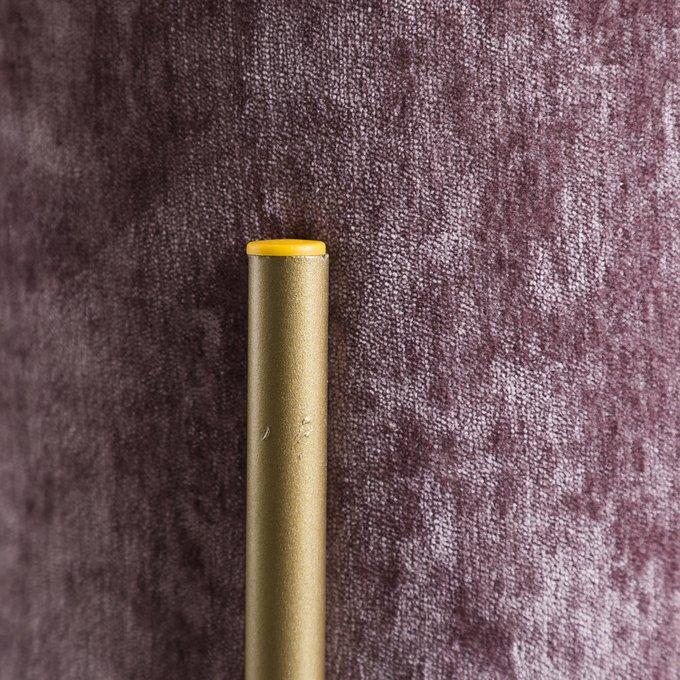 Пуф круглый сиреневого цвета на металлических ножках