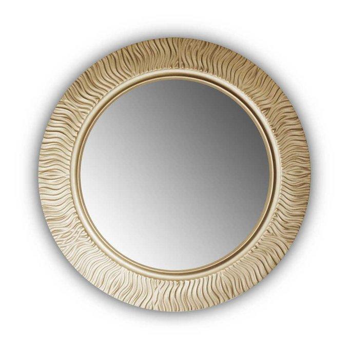 Настенное зеркало FASHION WAVE gold