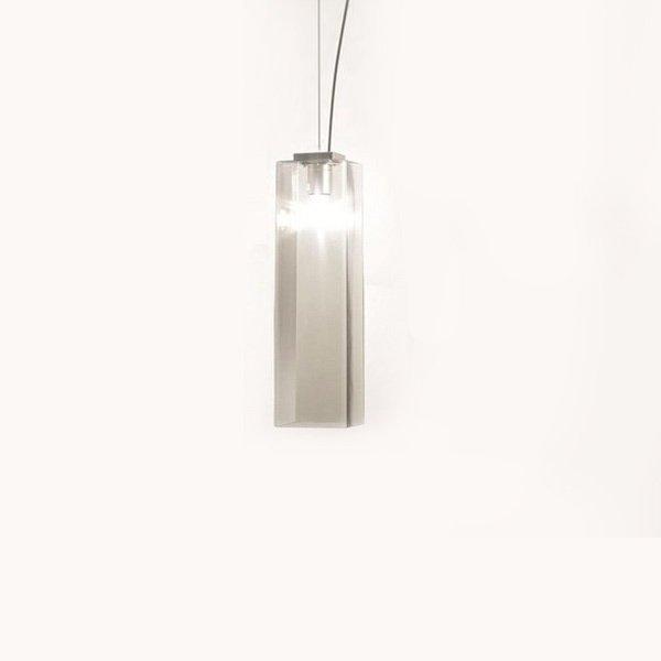 Подвесной светильник Vistosi TUBES с плафоном из стекла дымчатого цвета