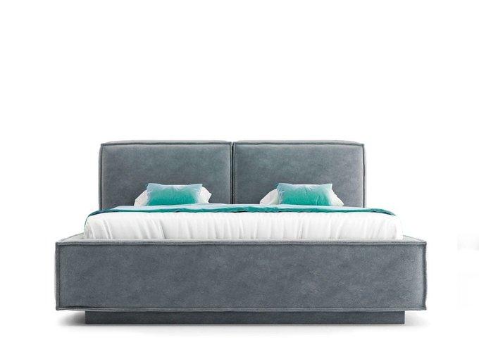 Кровать Verde серого цвета с ортопедическим основанием 180х200