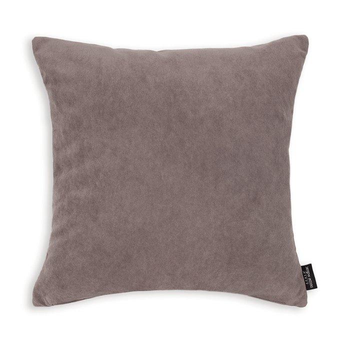 Декоративная подушка Ultra Stone 45х45 темно-коричневого цвета