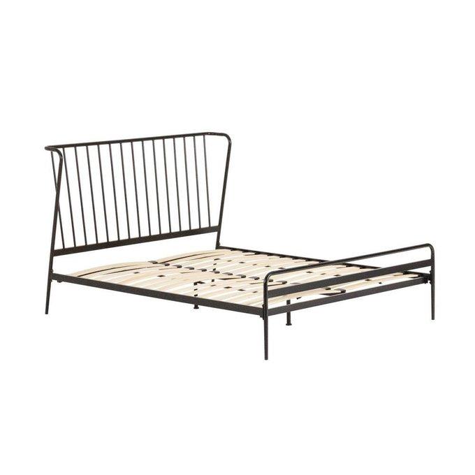 Кровать Narlu графитового цвета 160x200