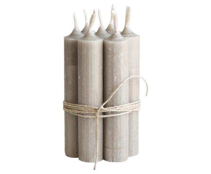 Сет из 10-ти столовых свечей Лён из воска