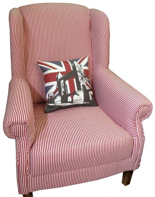 Кресло Розы Прованса красно-бежевого цвета