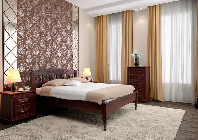 Кровать Флоренция 1 бук-красное дерево 160х200