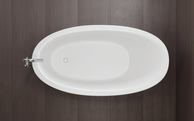 Каменная Ванна Emmanuelle белая