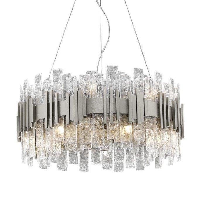 Подвесной светильник из множества стеклянных пластин