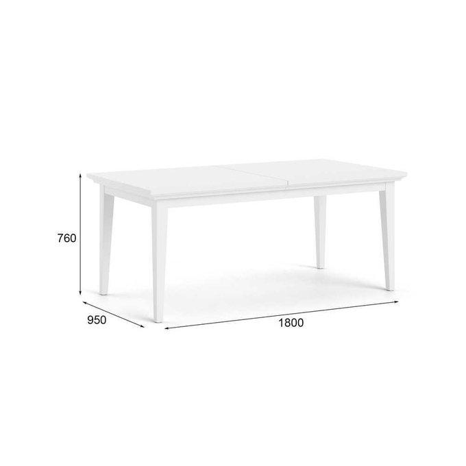 Стол обеденный раздвижной Paris белого цвета