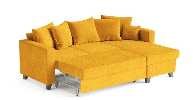 Угловой диван-кровать Эмилио желтого цвета