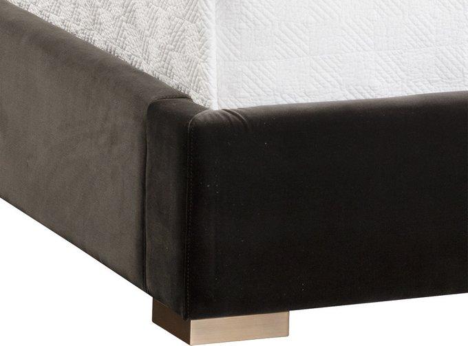 Кровать Persius King черного цвета 160х200