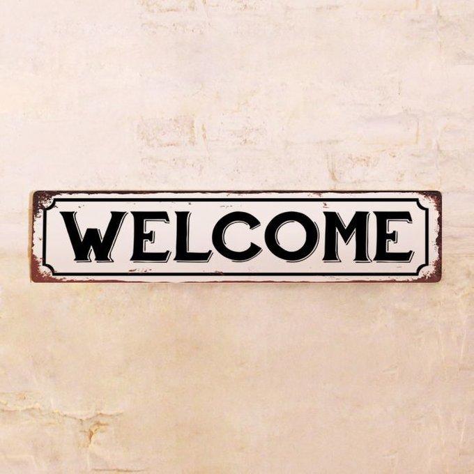Жестяная табличка Welcome в винтажном стиле