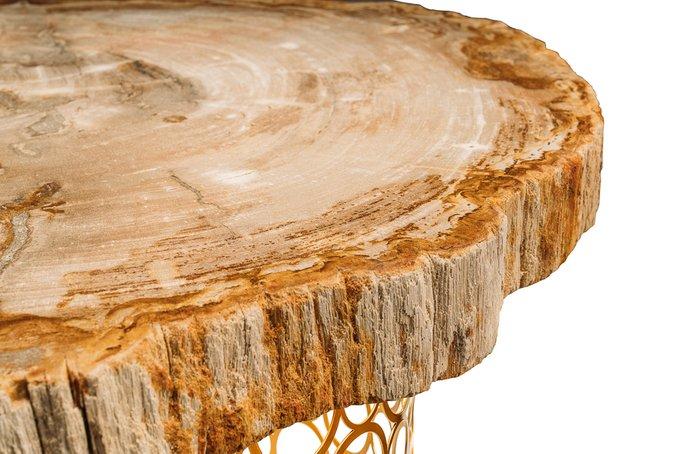 Журнальный стол Палиат из окаменелого дерева 381622