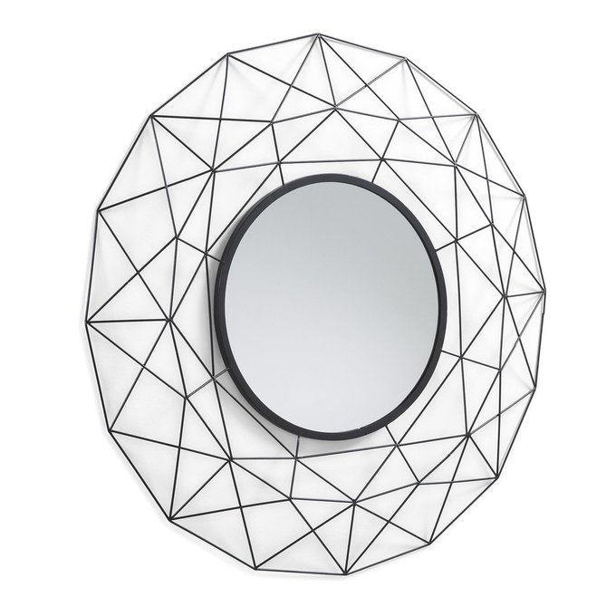 Зеркало Habita в  металлической черной раме