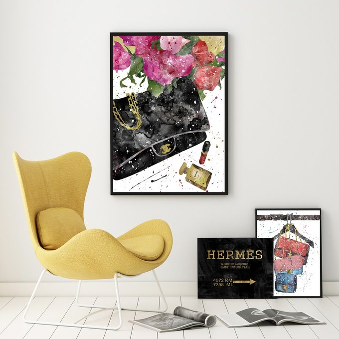 Постер Сумки Chanel А3 на бумаге