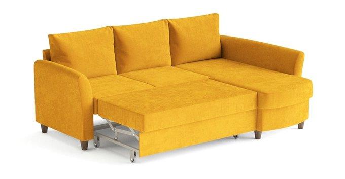Угловой диван-кровать Катарина желтого цвета