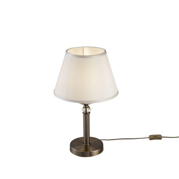 Настольная лампа Alessandra с белым плафоном