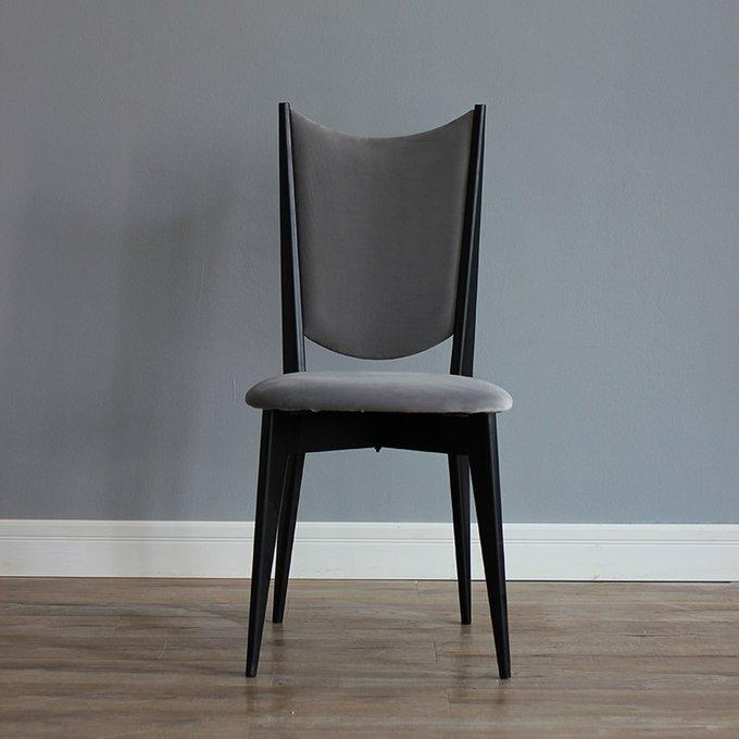 Стул Retro Velvet серого цвета