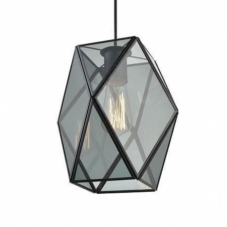 Подвесной светильник Bergamo из дымчатого стекла