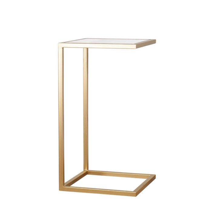 Прикроватный столик со столешницей из прозрачного стекла