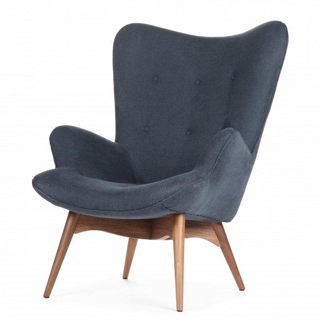 Кресло Contour темно-синего цвета