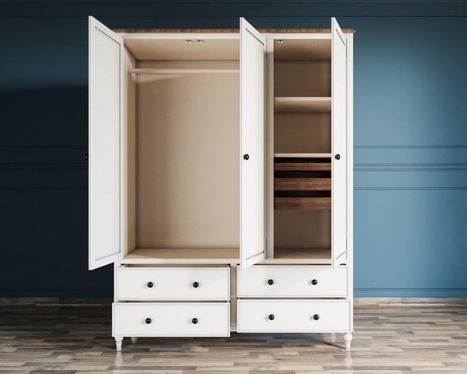 Шкаф трехстворчатый Odri с ящиками