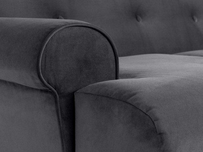 Двухместный диван Italia темно-серого цвета