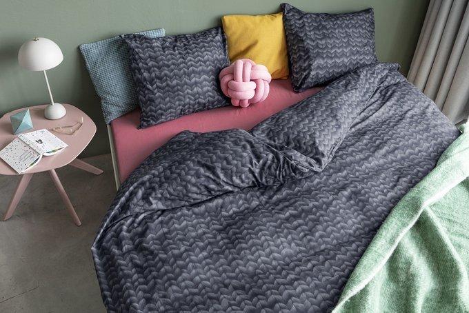 Комплект постельного белья Косичка угольно-черного цвета