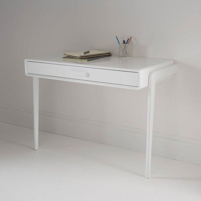 Стол-консоль Colas с ящиком белого цвета