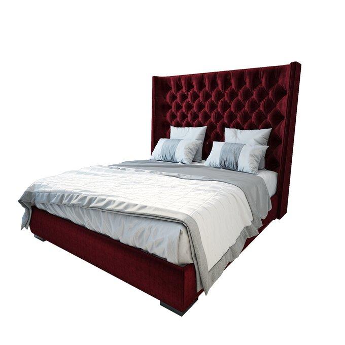 Кровать Jackie King Велюр Красный 200х200