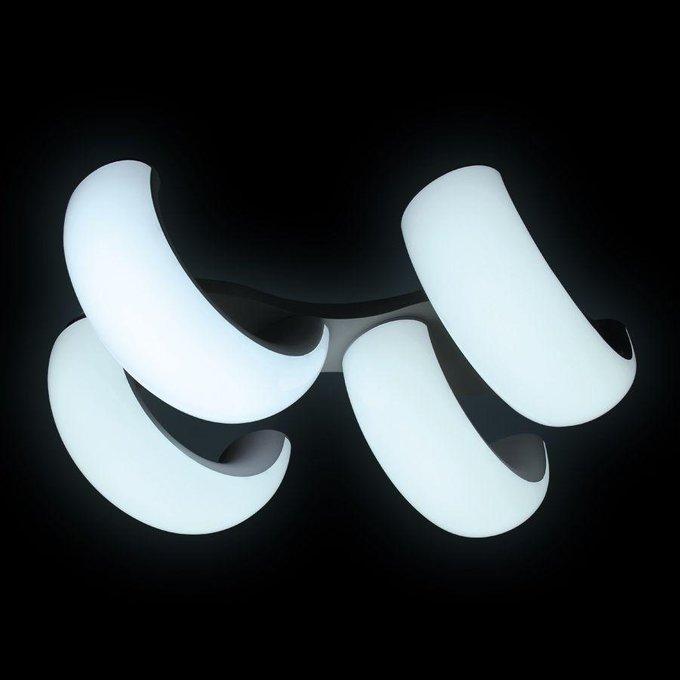Потолочная светодиодная люстра Orbital Cloud белого цвета