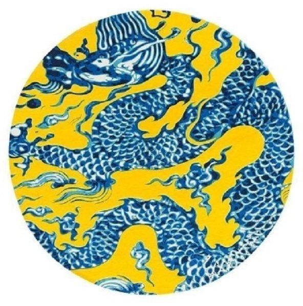 Круглый ковер GAN Blue china 250 см