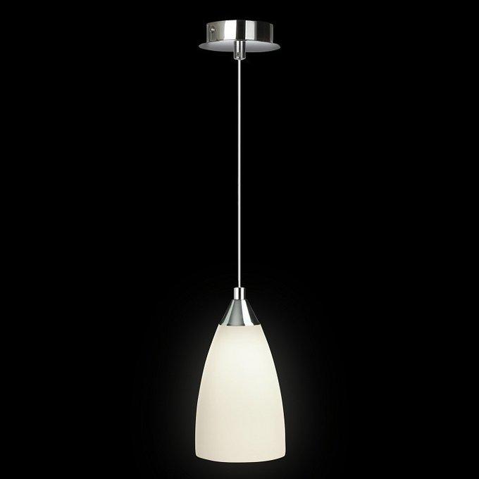 Подвесной светильник со стеклянным белым плафоном