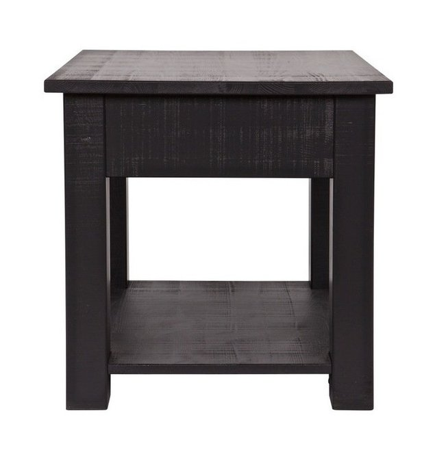 """Журнальный столик DE EEKHOORN """"Boris side table rough sawn black"""""""