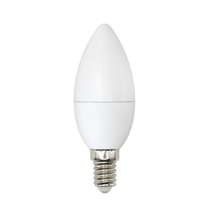 Лампа светодиодная Свеча матовая белого цвета