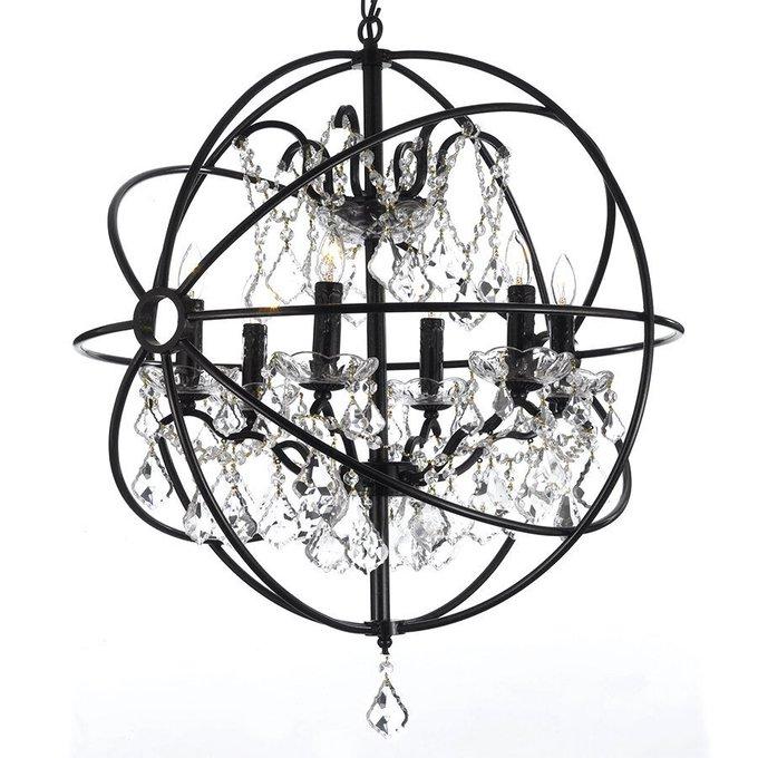 Люстра лофт Foucault's Orb с кристаллами