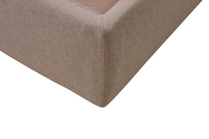 Кровать Фиби серо-коричневого цвета 160х200 с ящиком для хранения