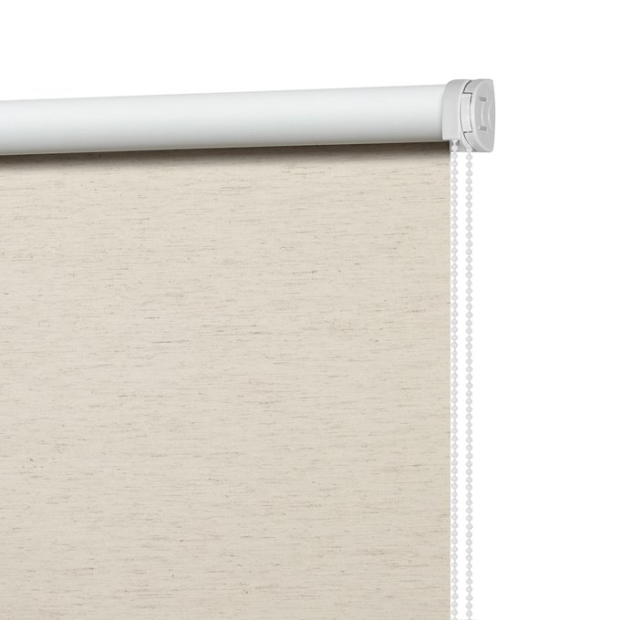 Рулонная штора Миниролл Блэкаут светло-бежевого цвета 60x175