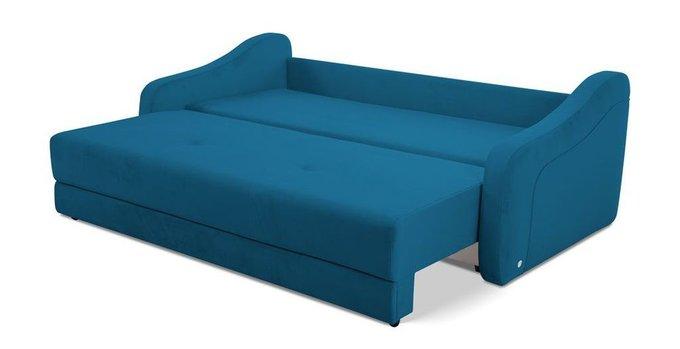Прямой диван-кровать Иден синего цвета