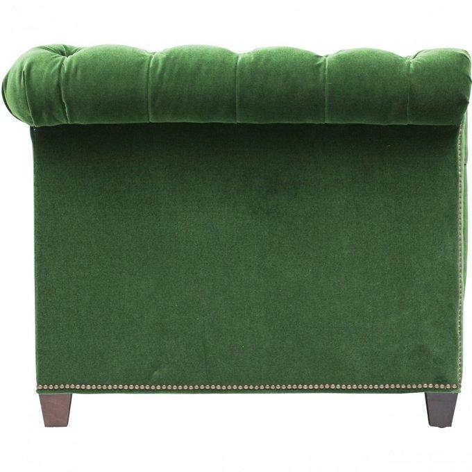 Диван Chesterfield зеленого цвета