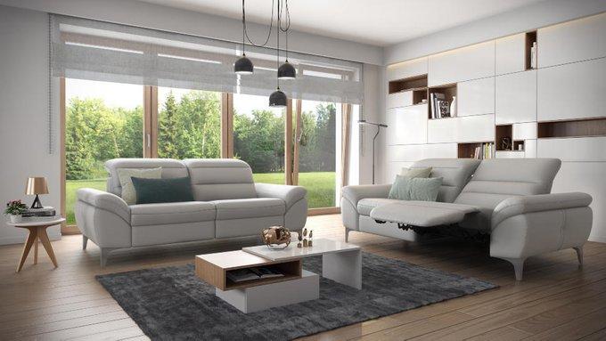 Прямой диван Daphne серого цвета