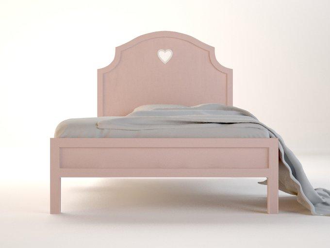 """Кровать """"Adelina"""" в розовом цвете 120х190 см"""