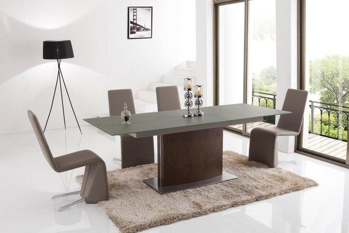 Большой раздвижной прямоугольный обеденный стол