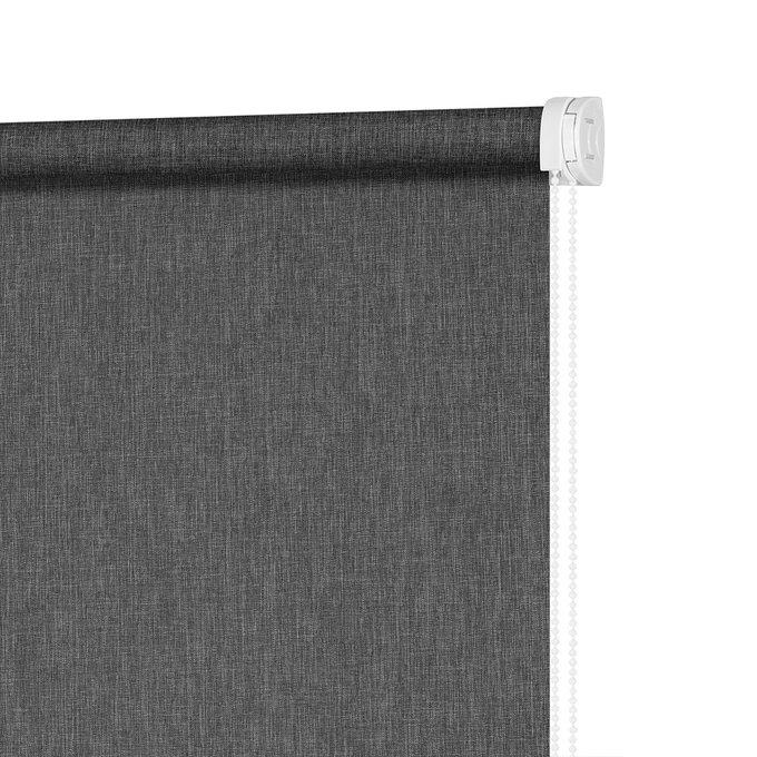 Штора Миниролл Меланж темно-серого цвета 90x160