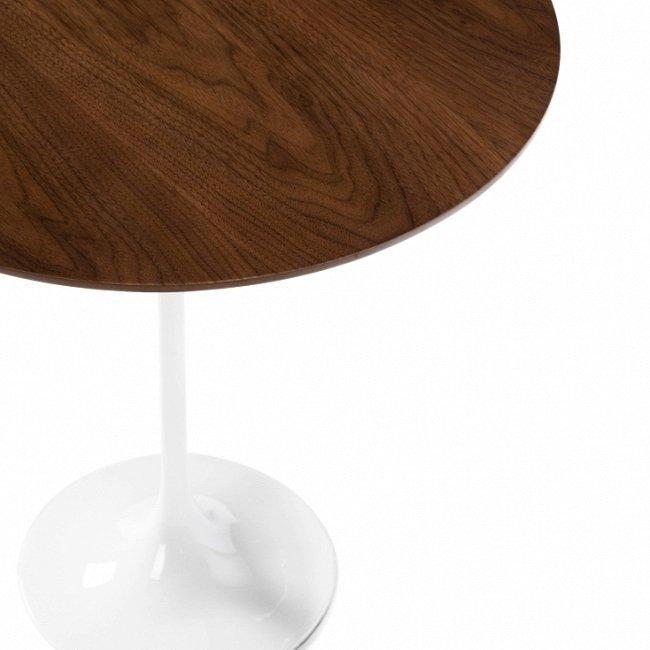 """Кофейный стол """"Tulip"""" с круглой столешницей из дерева"""