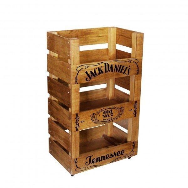 Дубовый стеллаж Jack Daniels